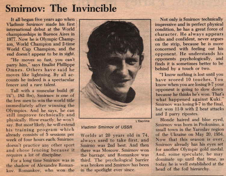 Fencing Times Reports On The 1981 World Amp National